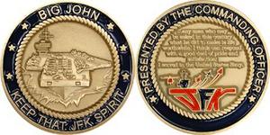 USS JFK Commanders coin